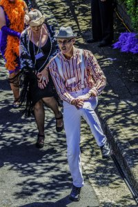 The latest attempt included 319 costumed dancers. Photo: David Hill, Blue Mountains Lithgow & Oberon Tourism
