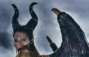 Kendall Bailey of Redfern in her extravagent rendition of Maleficent. Photo: David Hill, Deep Hill Media