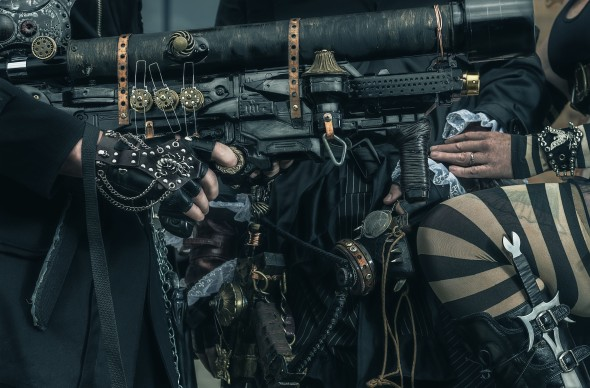Steampunkers and their bling. Photo: David Hill, Deep Hill Media