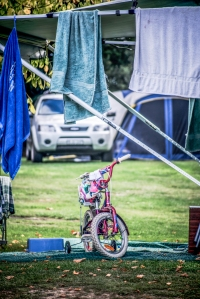 No campsite is complete without a makeshift clothesline. Photo: David Hill, Deep Hill Media