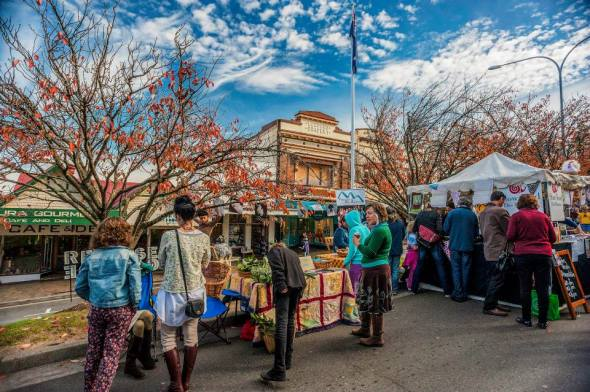 Leura Harvest Festival will be set among the famous cherry trees of Leura Mall. Photo: David Hill, Deep Hill Media
