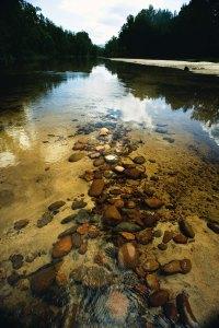 River stones in the Hawkesbury River at Yarramundi near Navua Reserve.
